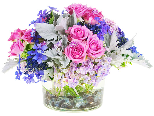 The versatile hydrangea is perfect for romantic bouquets and centerpieces