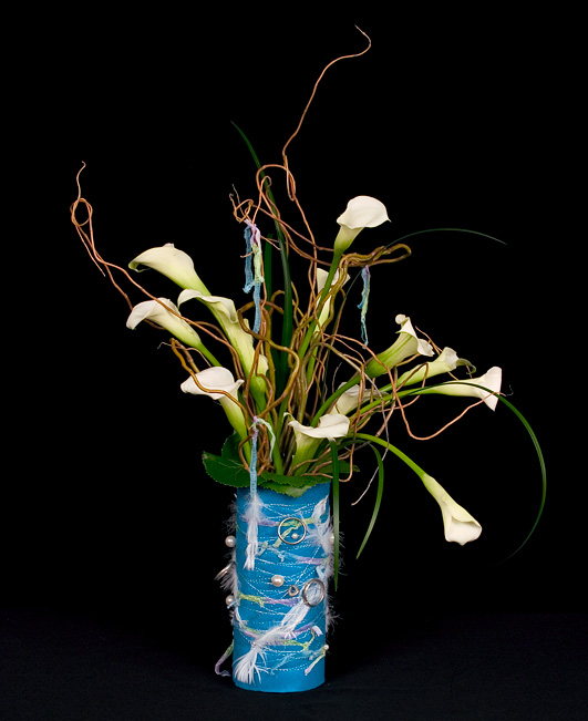 Handcrafted vase for X'mas.