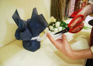 Vase Decor - Cut Extra Ribbon