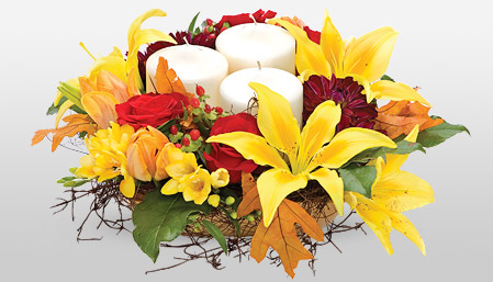 Thanksgiving Flowers - Time To Be Grateful - Share Love & Warmth