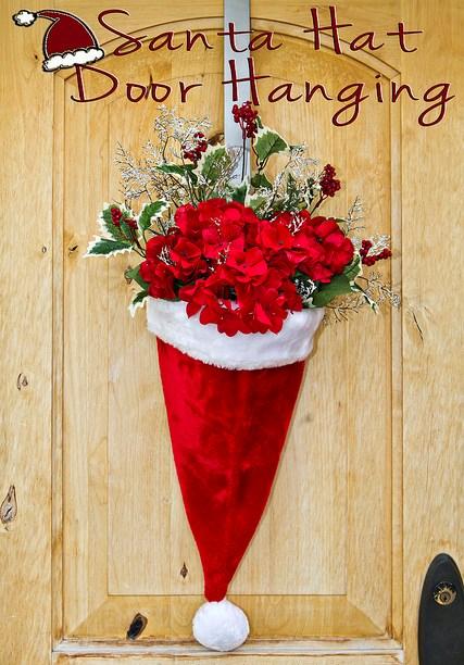 Santa-hat-door-hanging