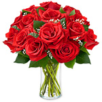 Dozen Roses in a Vase Sale! $ 5 Off