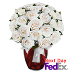 2 Dozen Long Stem White Roses