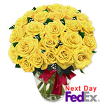 2 Dozen Long Stem Yellow Roses