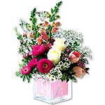 Crystal Baby Block Bouquet