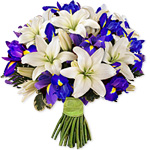irises and lillies bouquet