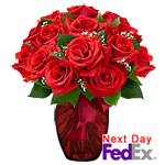 One Dozen Long Stem Red RosesSale! $5 off