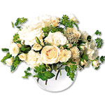 White Roses & Carnations