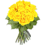 12 Yellow Roses