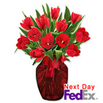 12 Red TulipsSale! $5 off