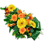 Seasonal Flowers Funeral Arrangement