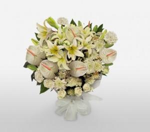 A White Sympathy & Funeral Bouquet