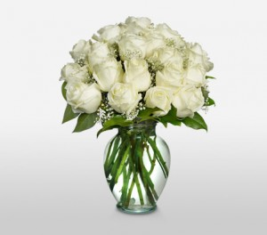 Long Stem Pure White Easter Roses
