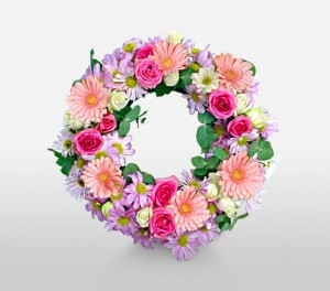 Pastel Funeral Wreath