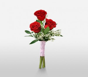"3 Red Roses To Say ""I Love You"""