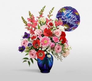 Carnations, Chrysanthemums And Larkspur For Birthdays