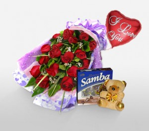 Hot Red Valentine Roses