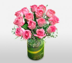 Pink Colored Roses For Mom