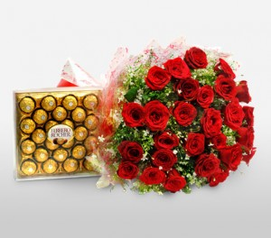 Roses & Chocolates For Christmas