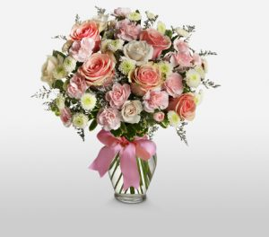 Cotton Candy Elegant Bouquet of Mixed Flowers