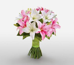 Upper Crest Pink and White Lilies