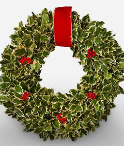 Jolly Christmas Wreath-Green,Wreath,Arrangement