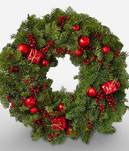 Wreath of Glory-Green,Red,Wreath,Arrangement