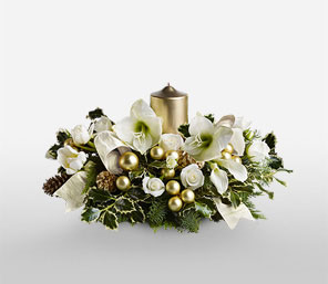 Golden Triumph-White,Lily,Mixed Flower,Rose,Tulip,Arrangement