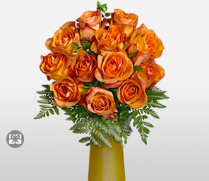Gold Crush-Orange,Rose,Arrangement