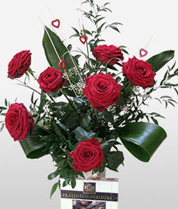 Admiration-Red,Chocolate,Rose,Bouquet