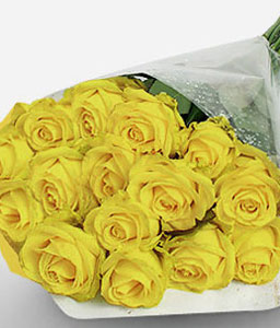 Sunny Smiles-Yellow,Rose,Bouquet