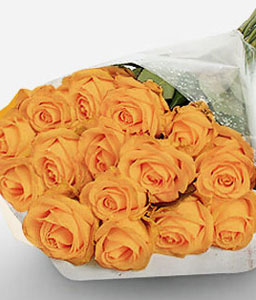 Citrus Blast-Orange,Rose,Bouquet