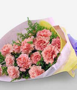Coral Cluster-Pink,Carnation,Bouquet