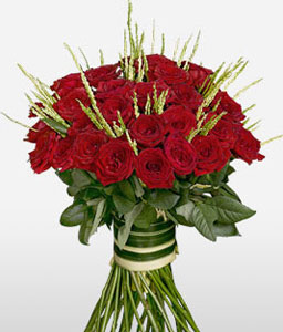 Roseate Glow Red-Red,Rose,Bouquet