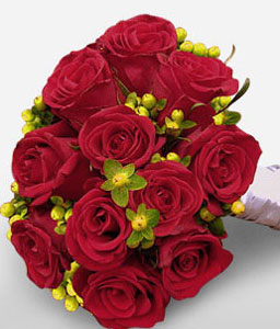 Charisma - 11 Red Roses Bouquet-Red,Rose,Bouquet