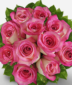 Royal Beauty - 11 Pink Roses-Pink,Rose,Bouquet