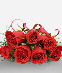 Enchanter - 7 Red Roses-Red,Rose,Bouquet