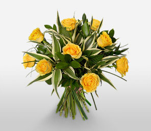 Friends Forever-Green,Yellow,Rose,Bouquet