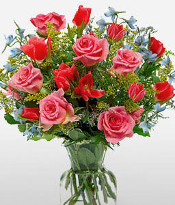 Mayflower-Pink,Red,Rose,Arrangement