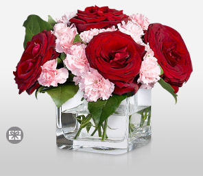 Je Taime-Pink,Red,Carnation,Rose,Arrangement