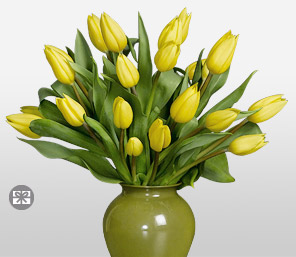 Twist Of Lemon-Yellow,Tulip,Arrangement