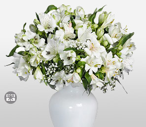 Soulful-White,Alstroemeria,Mixed Flower,Arrangement