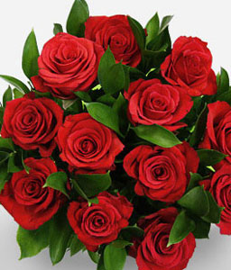 Romantic Heart-Green,Red,Rose,Bouquet