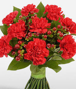 Red Passion-Red,Carnation,Bouquet