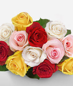 Alluring Dream-Mixed,Pink,Red,Yellow,Rose,Bouquet