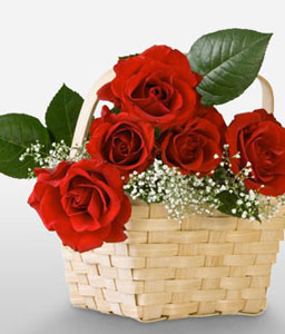 Regal Ecstasy-Red,Rose,Arrangement,Basket