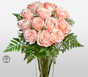 Rosy Posy <Br><Font Color=Red>Complimentary Tall Clear Vase </Font>