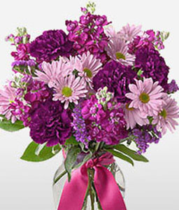 Majestic-Pink,Purple,Carnation,Daisy,Bouquet