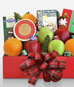 Festive Fruitbox-Fruit,Gourmet,Basket,Hamper