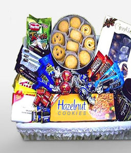 Cocoa Basket-Chocolate,Gourmet,Basket,Hamper